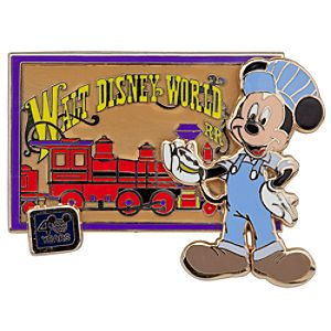 Walt Disney World 40th Anniversary Railroad Mickey Mouse Pin
