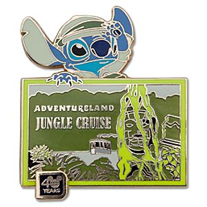 Walt Disney World 40th Anniversary Jungle Cruise Stitch Pin