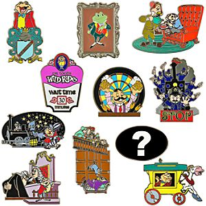 Reveal/Conceal Mr. Toads Wild Ride Mystery Pin Set -- 2-Pc.
