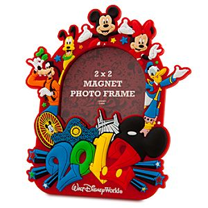 2012 Walt Disney World Mickey Mouse Magnet Photo Frame -- 2 x 2