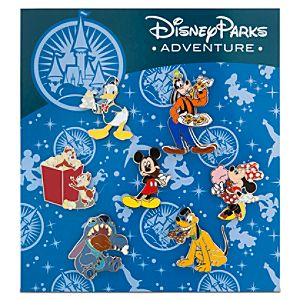 Disney Parks Adventure Mickey Mouse Pin Set -- 7-Pc.