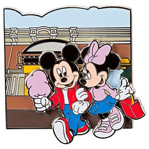 Online Exclusive Main Street Cinema Minnie and Mickey Mouse Pin