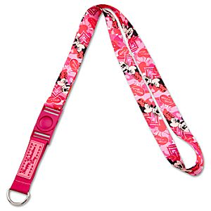 Valentine Minnie and Mickey Mouse Lanyard