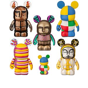 Vinylmation Walt Disney World 40th Anniversary Park 7 Series Tapestry of Nations 3 Figure Set -- 6-Pc.