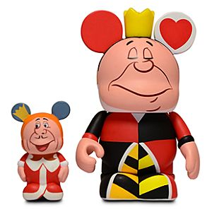"Vinylmation Alice in Wonderland Series Queen of Hearts & King - 3"" & 1 1/2"""