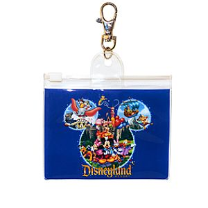 Storybook Disneyland Mickey Mouse Pin Lanyard Pouch