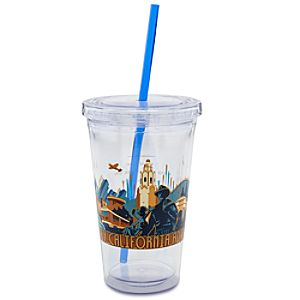 Limited Availability Commemorative Disney California Adventure Tumbler with Straw