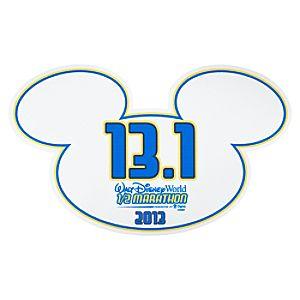 2013 Walt Disney World Half Marathon Auto Magnet