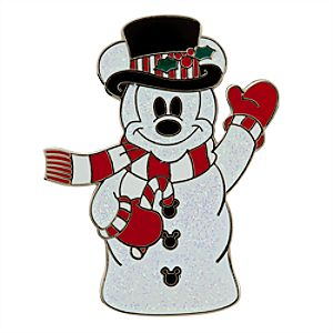 Mickey Mouse Pin - Snowman