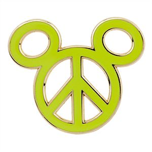 Mickey Icon Pin - Peace