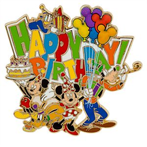 Mickey Mouse and Friends Pin - Happy Birthday!