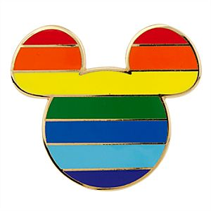 Mickey Icon Pin - Rainbow