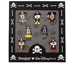 Mickey Mouse Mini Pin Set - Pirates of the Caribbean
