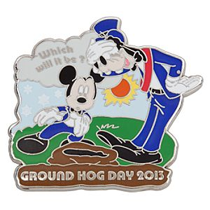 Mickey Mouse and Goofy Pin - Groundhog Day - Limited Edition
