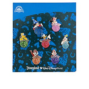 Sorcerer Mickey Mouse and Friends Mini Pin Set - 2013