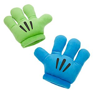 Mickey Mouse Plush Gloves - Mickey Mitts - Blue/Green