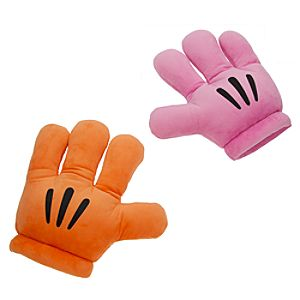 Mickey Mouse Plush Gloves - Mickey Mitts - Pink/Orange