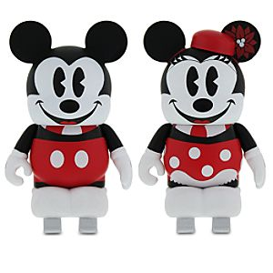 Vinylmation Mickey and Minnie Mouse Skating 3 Figure Set