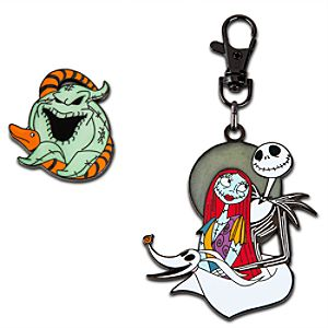 Tim Burtons The Nightmare Before Christmas Lanyard Medal and Pin Set