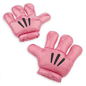 Mickey Mitts Plush Mickey Mouse Gloves - Pink Metallic