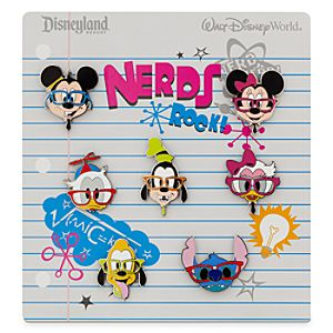Mickey Mouse and Friends Nerds Pin Set
