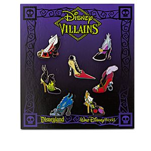 Disney Villains Designer Shoe Pin Set