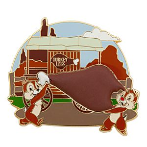 Chip n Dale Turkey Leg Pin - Disney Parks
