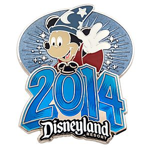 Sorcerer Mickey Mouse Pin - Disneyland 2014