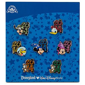 Sorcerer Mickey Mouse and Friends Pin Set - Disney Parks 2014