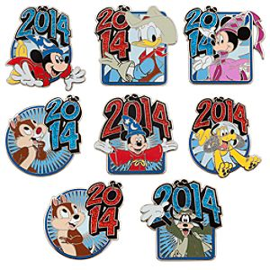Sorcerer Mickey Mouse and Friends Mystery Pin Set - Disney Parks 2014
