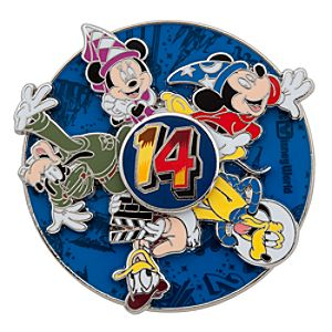Sorcerer Mickey Mouse and Friends Spinner Pin - Walt Disney World 2014