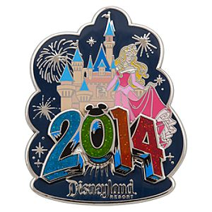 Aurora at Sleeping Beauty Castle Pin - Disneyland 2014