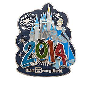 Cinderella at Cinderella Castle Pin - Walt Disney World 2014