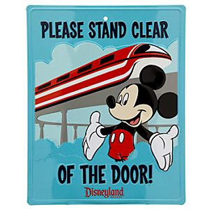 Mickey Mouse and Monorail Tin Sign - Disneyland