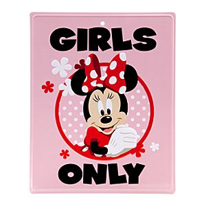 Minnie Mouse Tin Sign - Girls Only