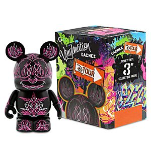 Vinylmation D-Tour Series 3 Eachez Figure - Pinstripe Mickey and Minnie Mouse