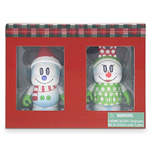 Vinylmation Holiday 2014 Snowman Mickey and Minnie Mouse Set - 3