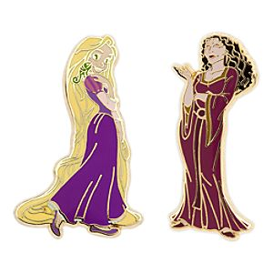 Rapunzel and Mother Gothel Pin Set