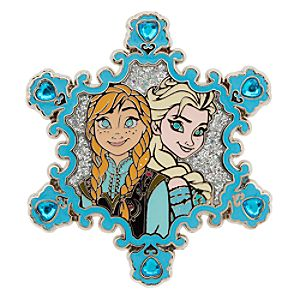 Anna and Elsa Snowflake Pin