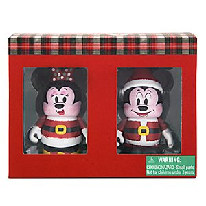 Vinylmation Santa Mickey and Minnie Mouse 3 Figure Set - Holiday 2015 - Limited Edition