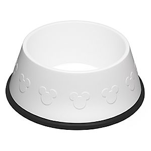 Mickey Mouse Icon Dog Bowl - White
