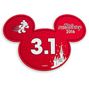 Mickey Mouse runDisney 2016 Magnet - 3.1