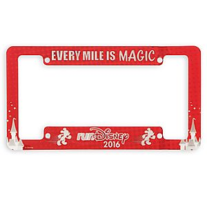 runDisney License Plate Frame
