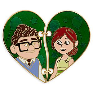 Carl and Ellie Broken Heart Pin Set - Up