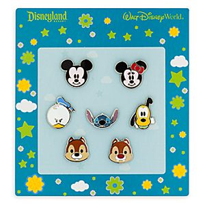 Mickey Mouse and Friends Faces Pin Set