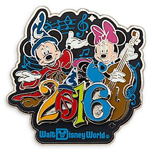 Sorcerer Mickey with Minnie Mouse Pin - Walt Disney World - 2016