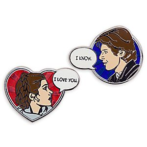 Han Solo and Princess Leia Pin Set - Star Wars