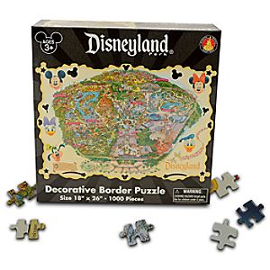 Disneyland Map Puzzle -- 1000-Pc.