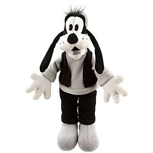 Black and White Goofy Plush -- 7 H