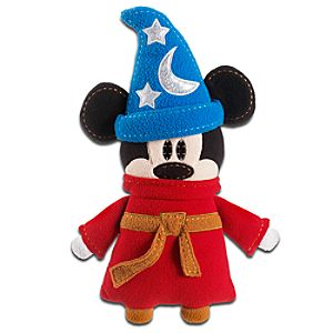 Pook-a-Looz Sorcerer Mickey Plush Toy -- 12''